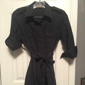 Super cute dark navy blue shirt dress!!! 👗❤️